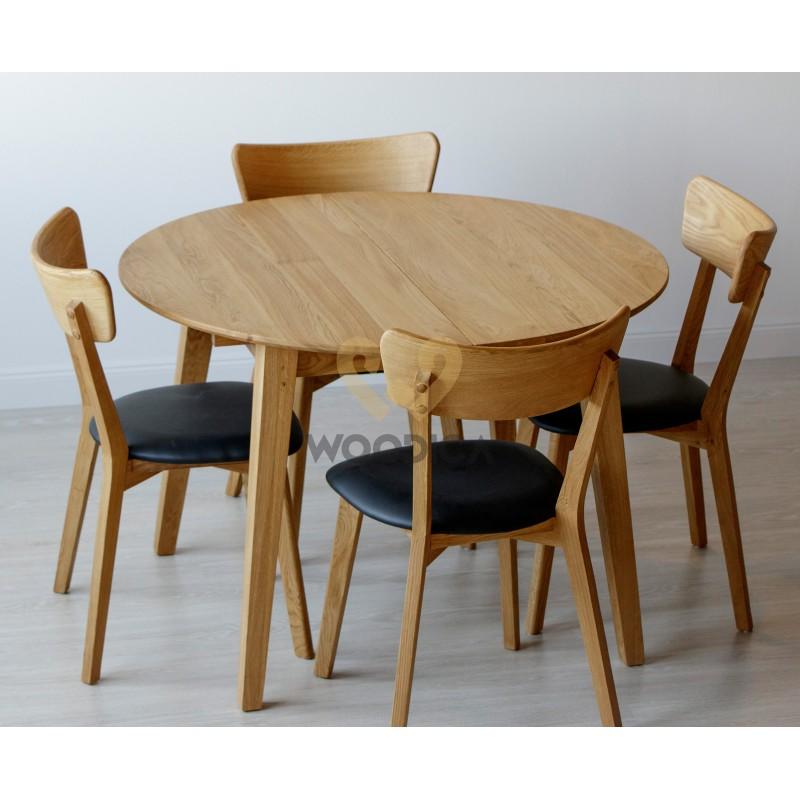 Stół dębowy okrągły rozkładany 04>                                         <span class=