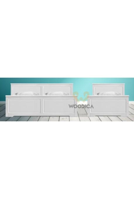 Białe łóżko Parma 49 z litego drewna sosnowego