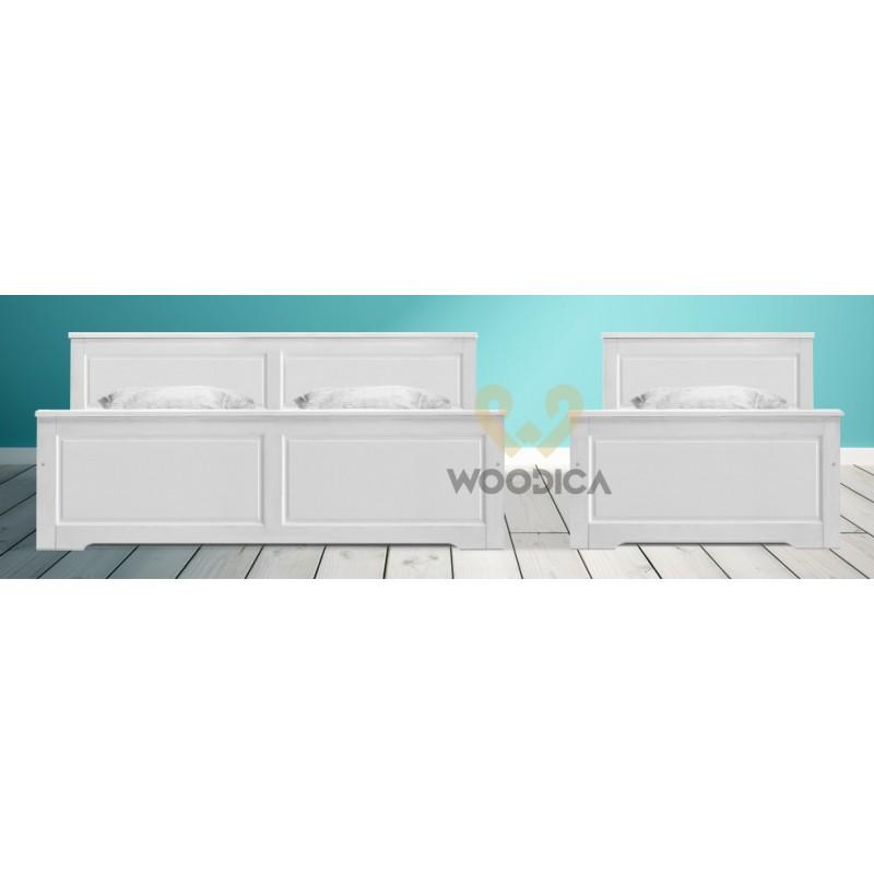 Białe łóżko Parma 49 z litego drewna sosnowego>                                         <span class=
