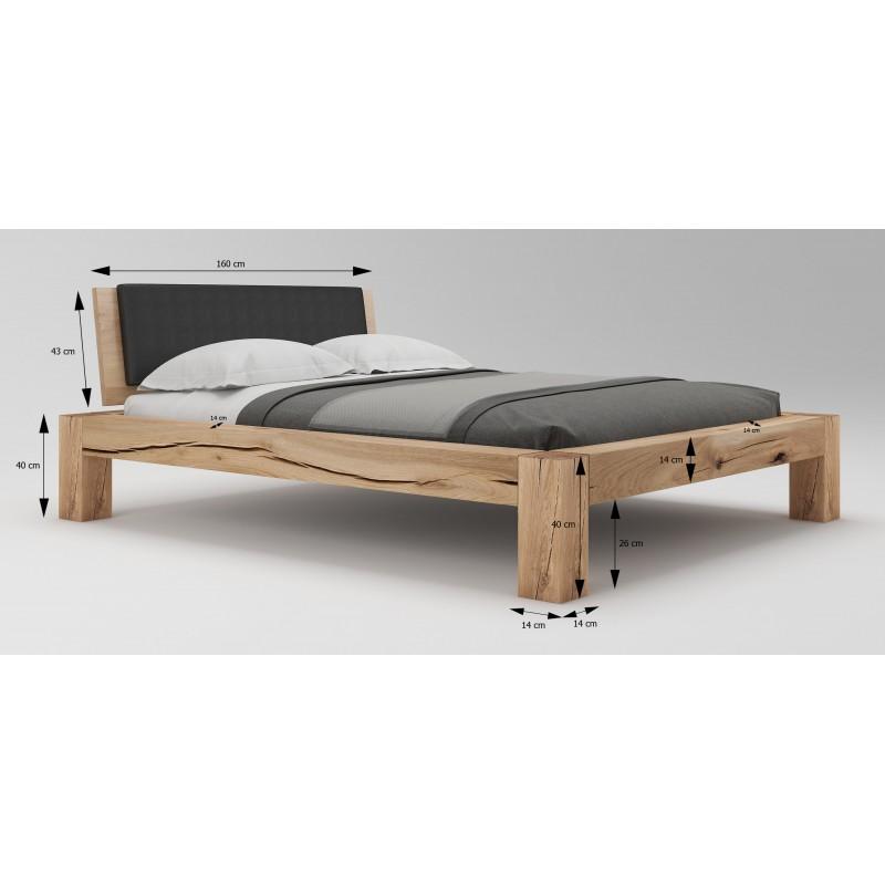 Łóżko dębowe Syringa 03>                                         <span class=