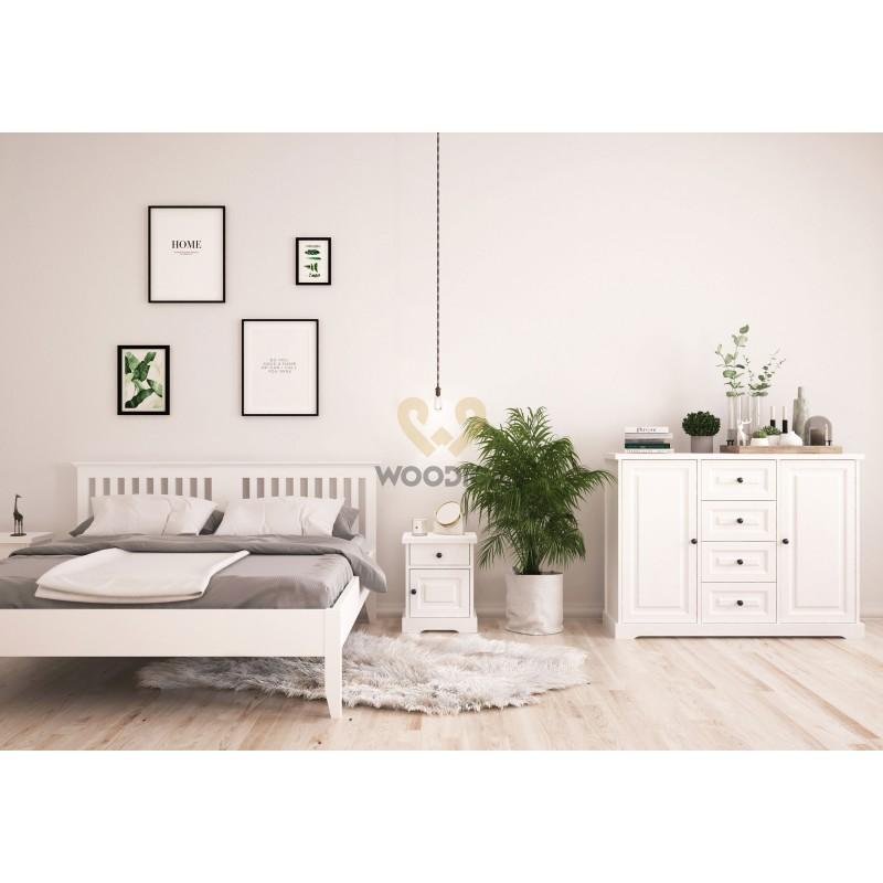 Nowoczesna komoda drewniana Parma 34 w kolorze białym>                                         <span class=