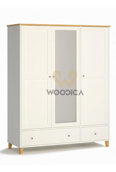 Biała szafa drewniana w stylu skandynawskim Siena 26