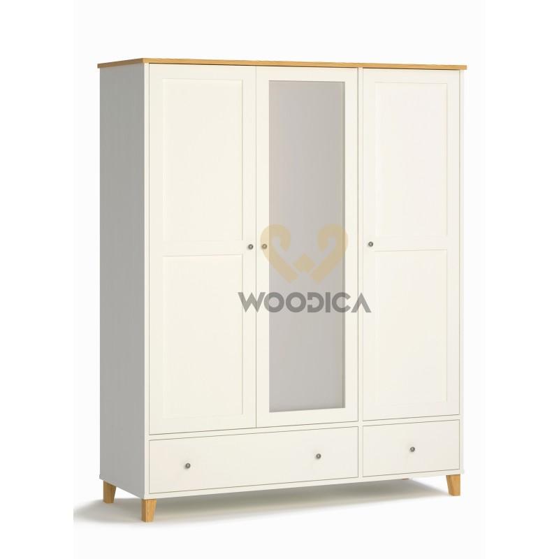 Biała szafa drewniana w stylu skandynawskim Siena 26>                                         <span class=