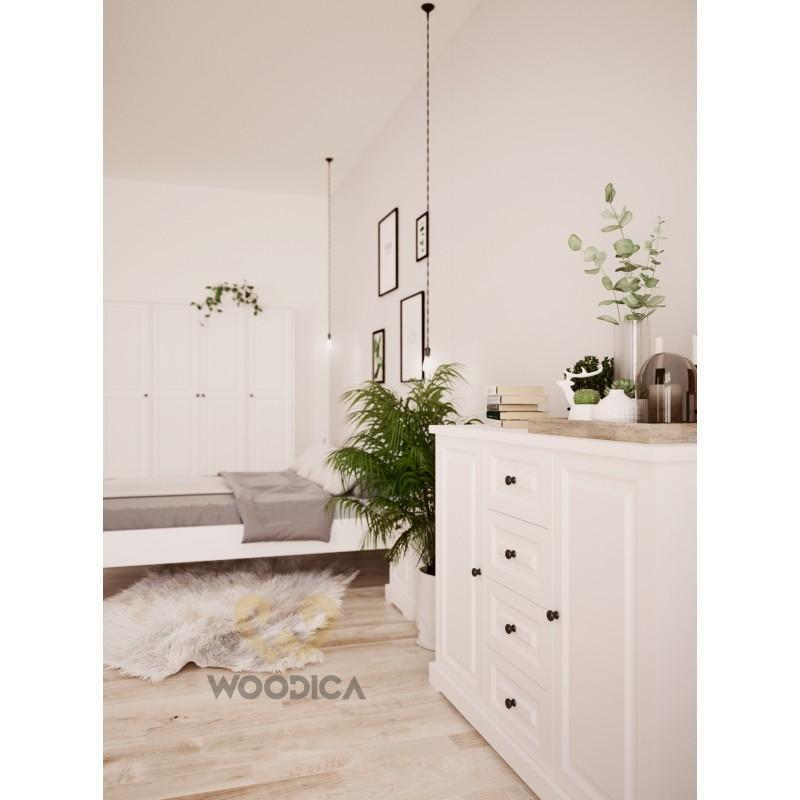 Biała szafa drewniana Parma 05 w stylu nowoczesnym>                                         <span class=