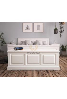 Biały kufer Parma 40 z litego drewna sosnowego