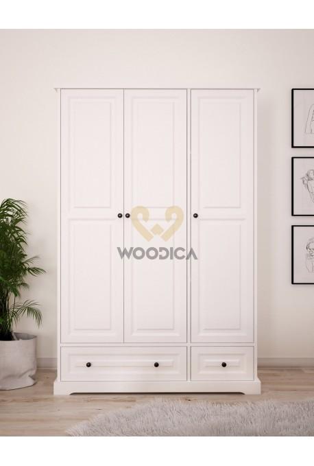 Nowoczesna szafa drewniana Parma 07 w kolorze białym