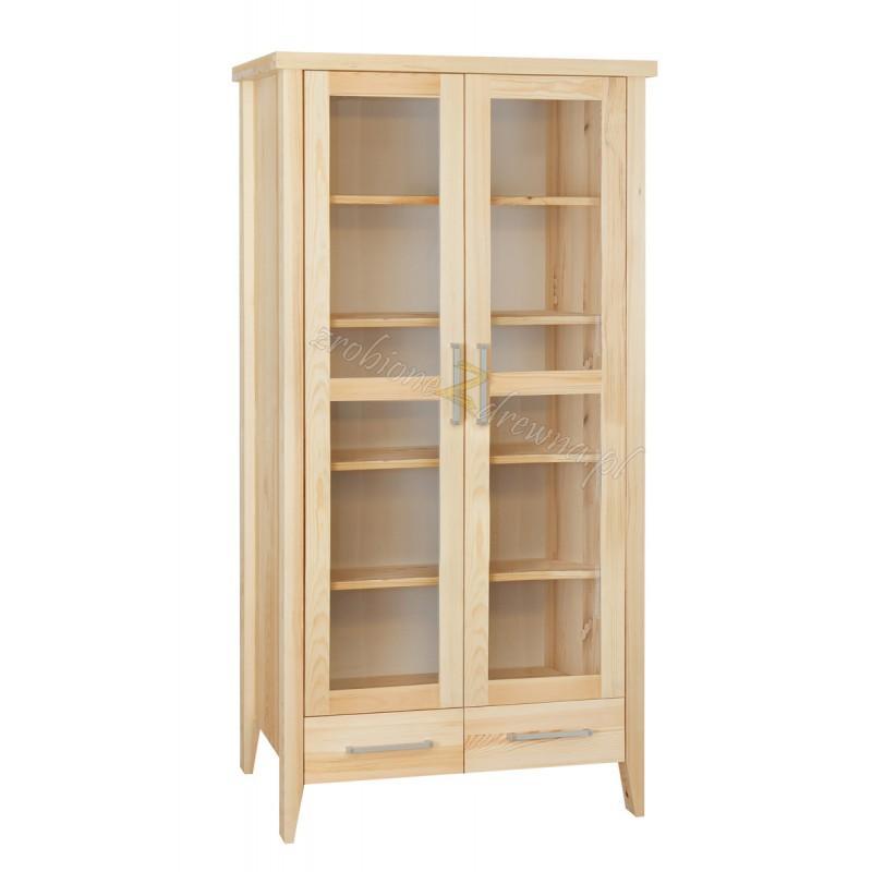 Nowoczesna witryna z litego drewna Torino 11 do salonu>                                         <span class=