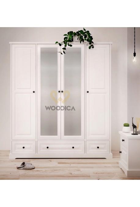 Biała szafa drewniana Parma 10 w stylu nowoczesnym
