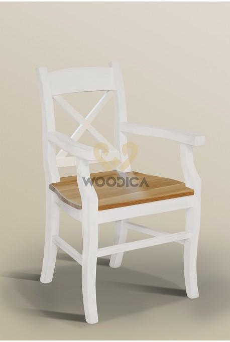 Krzesło Nicea 31 z dębowym siedziskiem