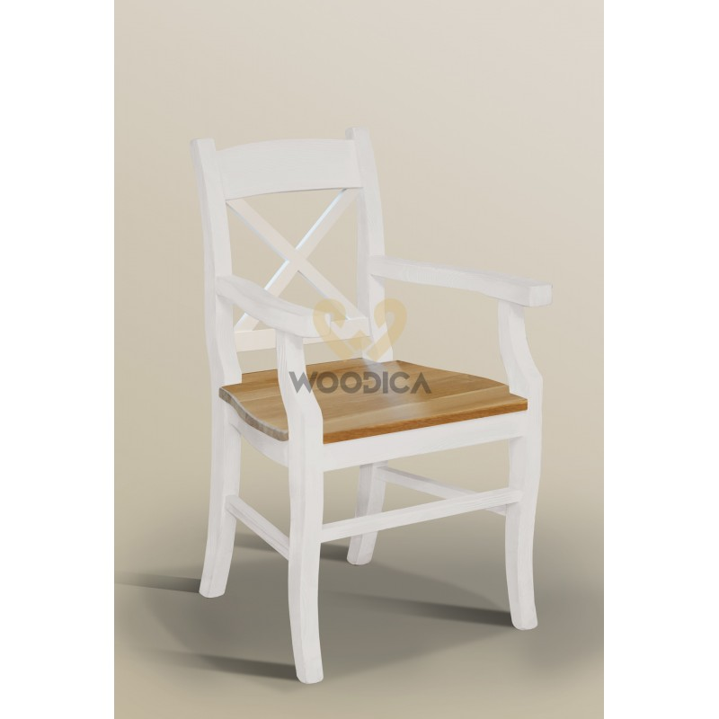 Krzesło Nicea 31 z dębowym siedziskiem>                                         <span class=