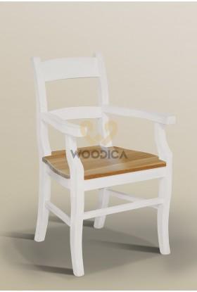 Fotel Nicea 33 z dębowym siedziskiem