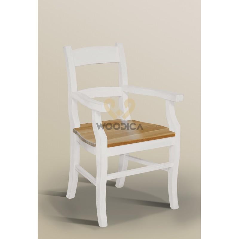 Fotel Nicea 33 z dębowym siedziskiem>                                         <span class=
