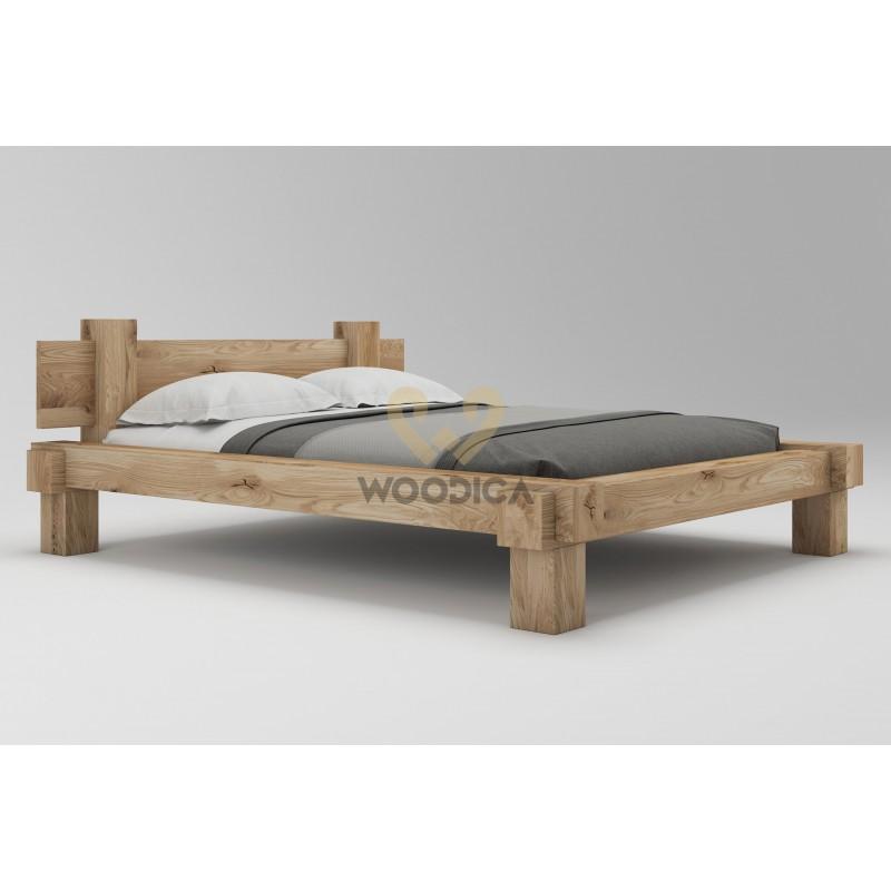 Łóżko dębowe Muscari 01>                                         <span class=