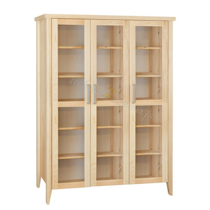Nowoczesna witryna z litego drewna Torino 16 do salonu>                                         <span class=