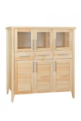 Nowoczesny kredens z litego drewna Torino 18 do salonu
