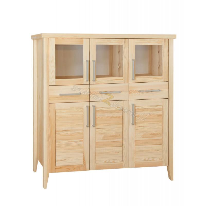 Nowoczesny kredens z litego drewna Torino 18 do salonu>                                         <span class=