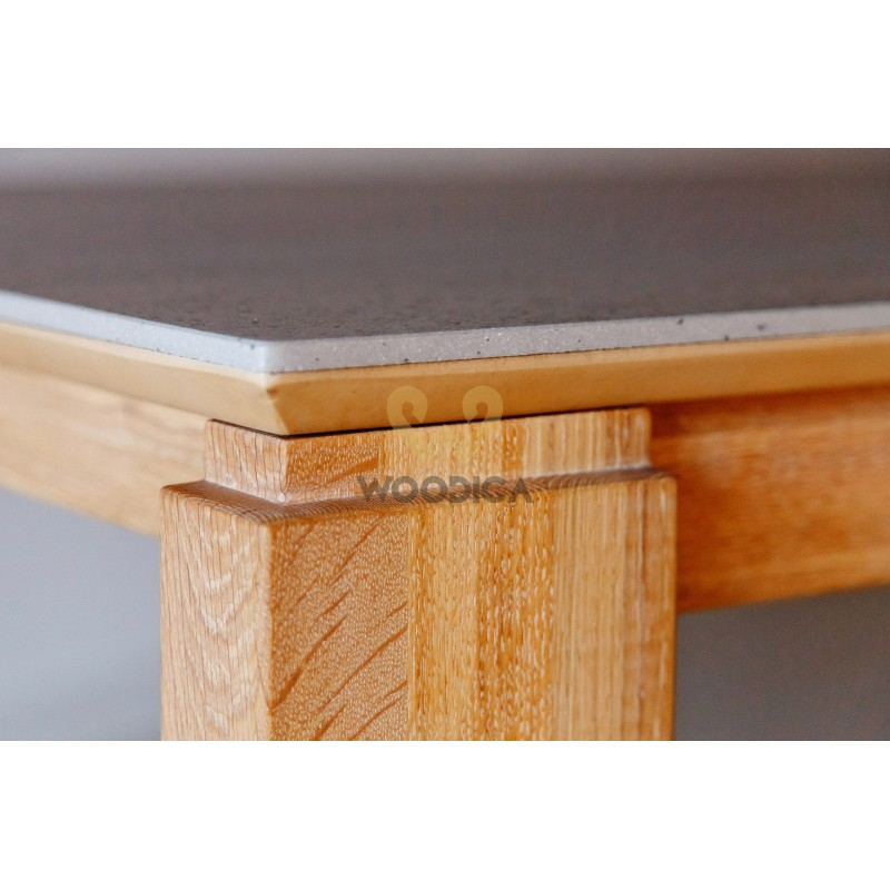 Stół dębowy 20 rozsuwany kamienny blat>                                         <span class=