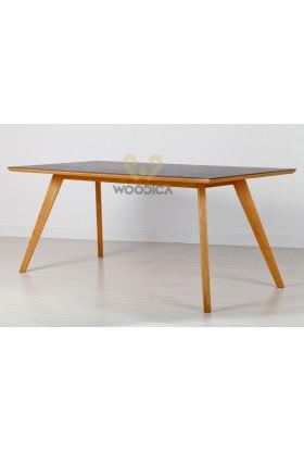 Stół dębowy 21 metalowy blat
