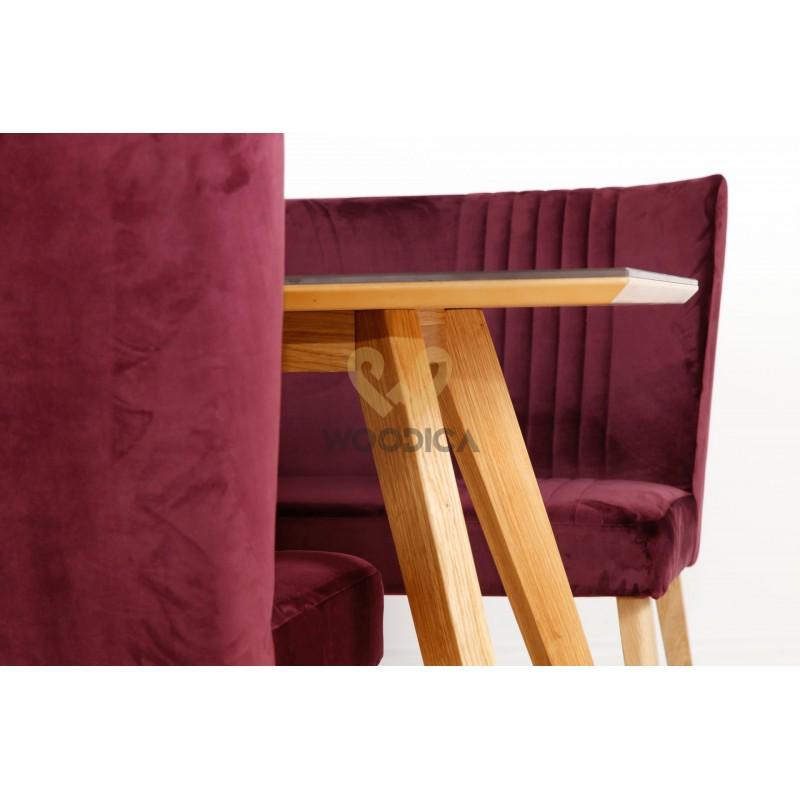 Stół dębowy 21 metalowy blat>                                         <span class=