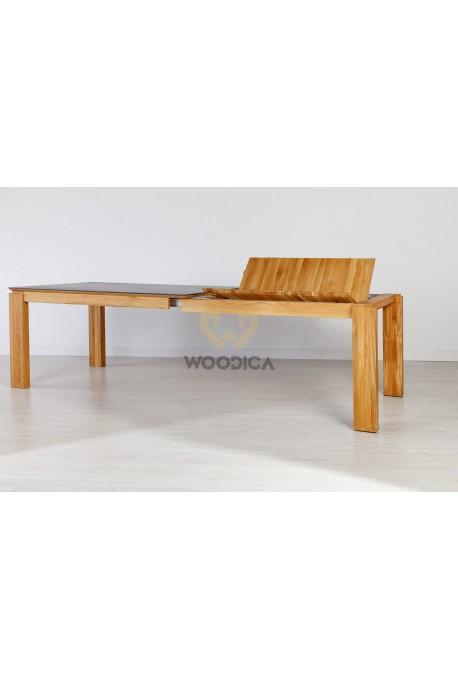 Stół dębowy 22 rozsuwany metalowy blat