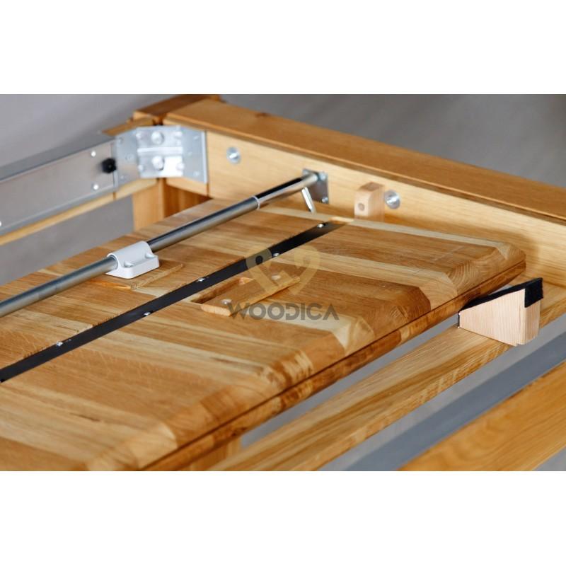 Stół dębowy 22 rozsuwany metalowy blat>                                         <span class=
