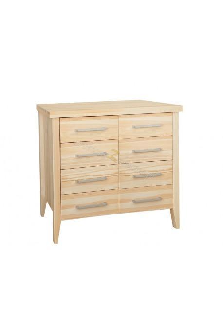 Nowoczesna komoda z litego drewna Torino 23 do sypialni