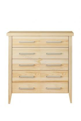 Nowoczesna komoda z litego drewna Torino 26 do sypialni