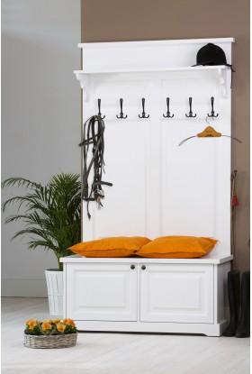 Biała garderoba drewniana Parma 59 do przedpokoju