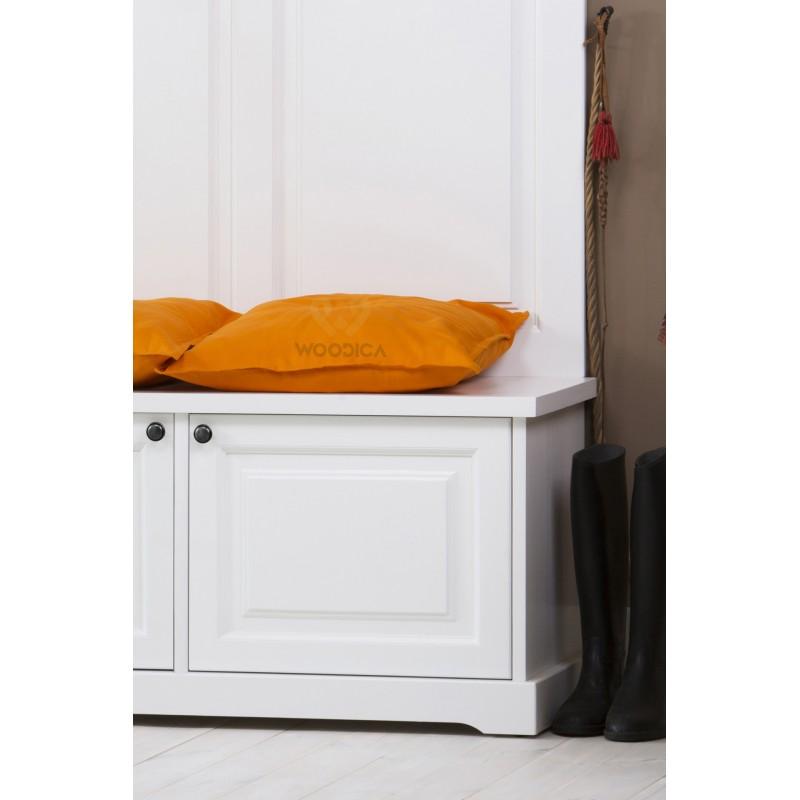 Biała garderoba drewniana Parma 59 do przedpokoju>                                         <span class=