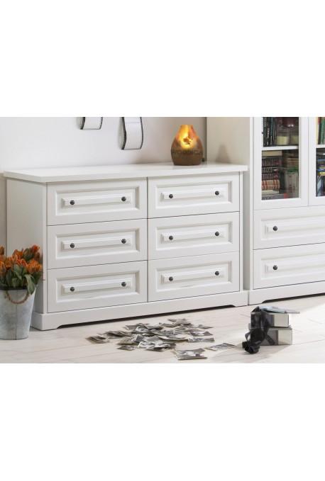 Nowoczesna komoda drewniana Parma 30 w kolorze białym