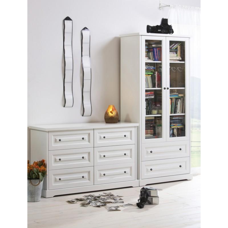 Nowoczesna komoda drewniana Parma 30 w kolorze białym>                                         <span class=