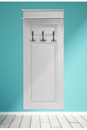 Biały wieszak drewniany Parma 57 w stylu nowoczesnym