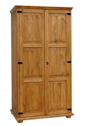 Szafa z litego drewna Hacienda 02 w stylu retro