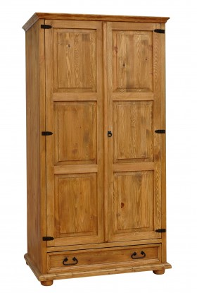 Szafa z litego drewna Hacienda 05 w stylu retro