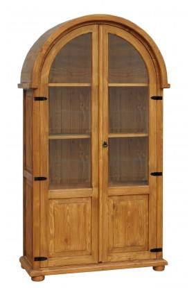 Rustykalna witryna drewniana Hacienda Łuk do salonu