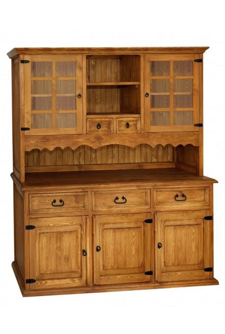 Rustykalny kredens drewniany Hacienda 04 do salonu lub kuchni