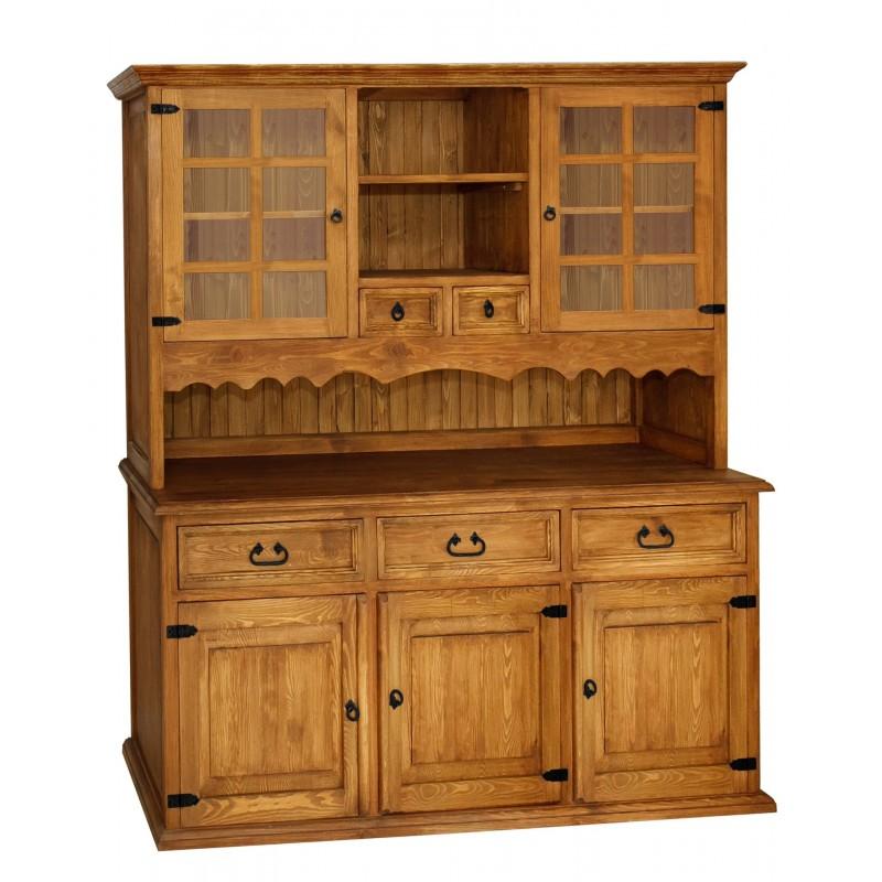 Rustykalny kredens drewniany Hacienda 04 do salonu lub kuchni>                                         <span class=