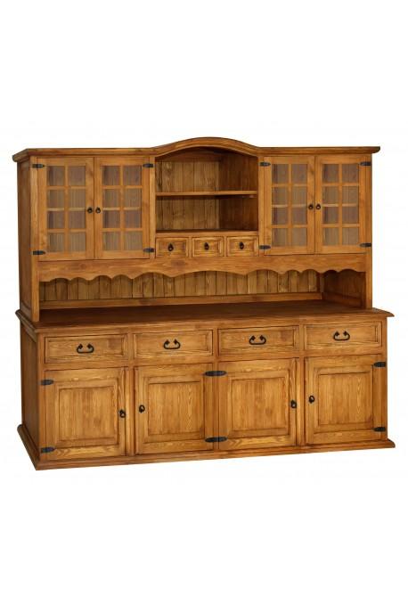 Rustykalny kredens drewniany Hacienda 07 do salonu lub kuchni