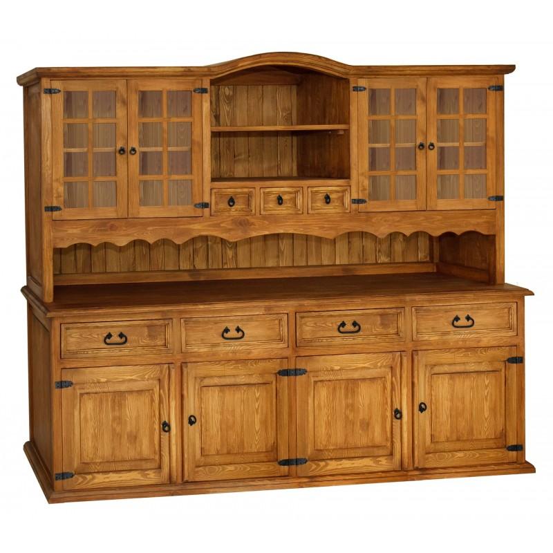 Rustykalny kredens drewniany Hacienda 07 do salonu lub kuchni>                                         <span class=
