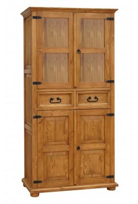 Witryna z litego drewna Hacienda 05 w stylu retro