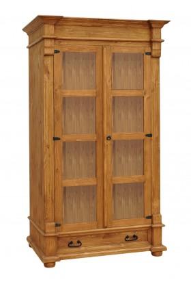 Witryna z litego drewna Hacienda 08 w stylu retro