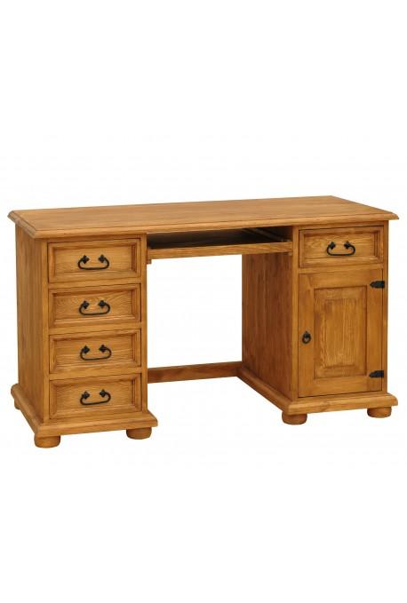Rustykalne biurko drewniane Hacienda 01 do gabinetu