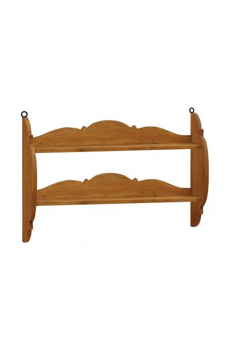 Półka z litego drewna Hacienda 02 w stylu retro