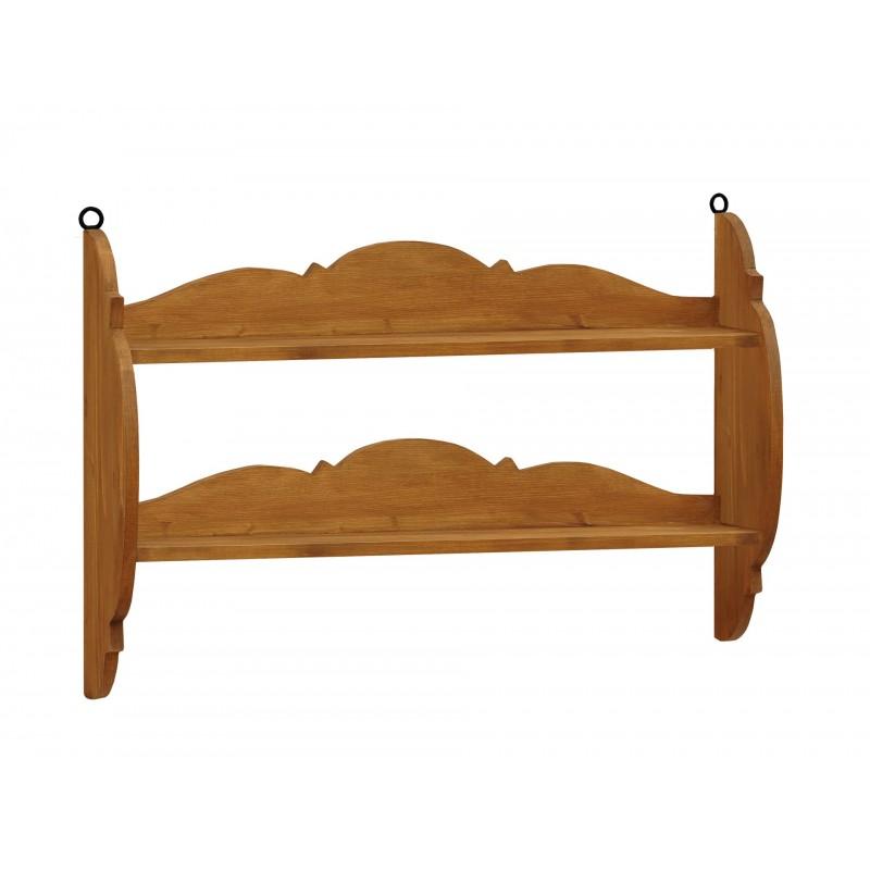 Półka z litego drewna Hacienda 02 w stylu retro>                                         <span class=