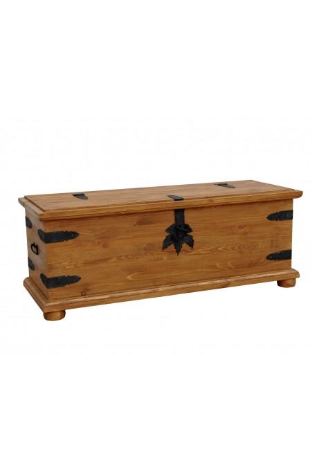 Rustykalny kufer drewniany Hacienda 01 do sypialni