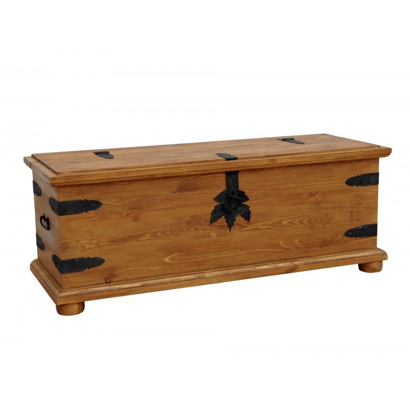Rustykalny kufer drewniany Hacienda 01 do sypialni>                                         <span class=