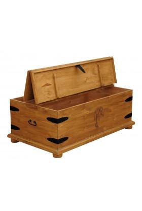 Kufer z litego drewna Hacienda 02 w stylu retro