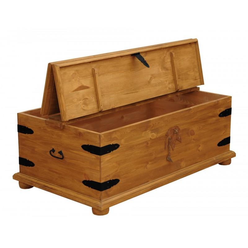 Kufer z litego drewna Hacienda 02 w stylu retro>                                         <span class=