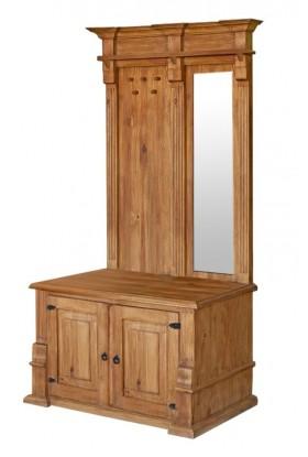 Rustykalna garderoba drewniana Hacienda 01 do przedpokoju