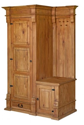 Garderoba z litego drewna Hacienda 02 w stylu retro